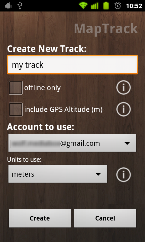 Map Track  GPS real time track - screenshot