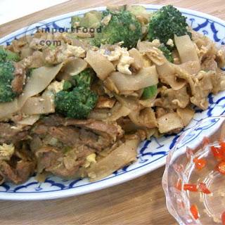 Thai Stir-Fried Wide Rice Noodles, 'Pad Si-iew'.