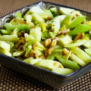 Green Apple, Celery, and Walnut Salad with Lemon-Mustard Vinaigrette.