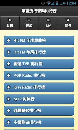 華語流行音樂排行榜 & MV MP3 歌詞搜尋器