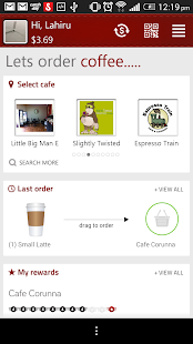 TXT4Coffee Customer App- screenshot thumbnail