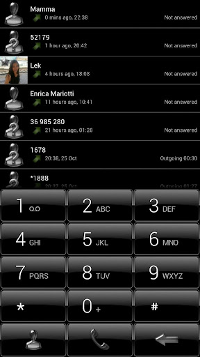 Dialer Black Gloss Theme