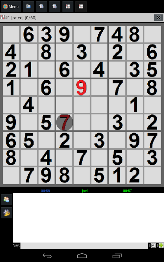 FREE SUDOKU MULTIPLAYER - screenshot