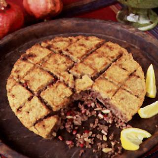 Bulgur Wheat and Ground Beef Pie