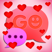 GO SMS Pro Hearts Theme Free