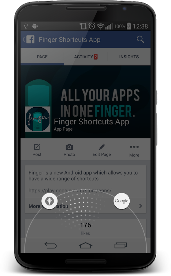 Finger Gesture Launcher - screenshot