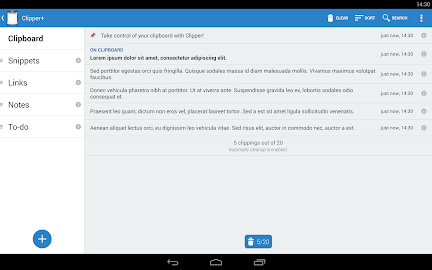 Clipper - Clipboard Manager Screenshot 1