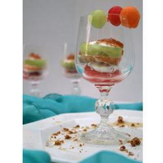 Melon Trio with Sherry and Mint