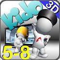 英语教育3D动漫 Kido 5-8 logo