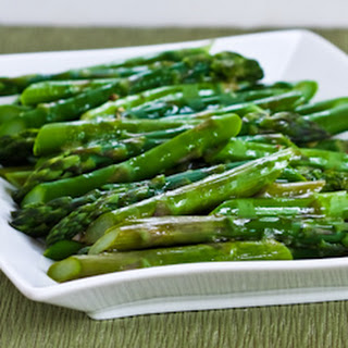 Barely-Cooked Asparagus with Lemon-Mustard Vinaigrette (Low-Carb, Paleo, Gluten-Free)