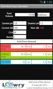Pool Acid Dose Calculator- screenshot thumbnail