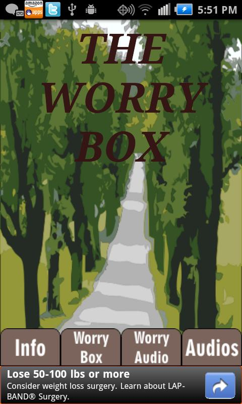 Worry Box---Anxiety Self-Help- screenshot