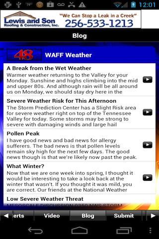 WAFF 48 Storm Team Weather - screenshot