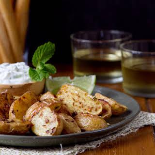 Roasted Potatoes with Cucumber Mint Raita.