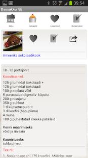 Dansukkeri retseptikogumik - screenshot thumbnail
