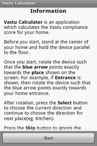 Vastu Calculator - screenshot