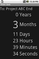 Screenshot of Event Clock