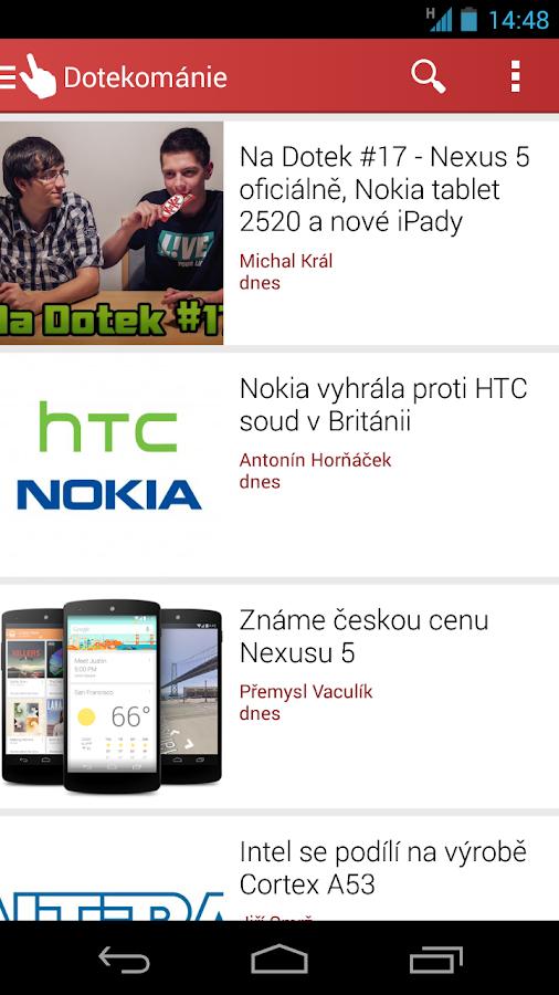 Dotekománie.cz - screenshot