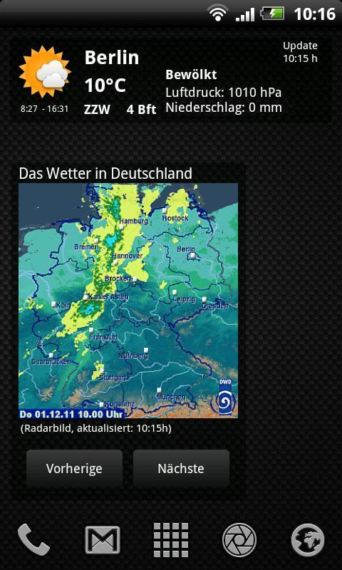 Das Wetter in Deutschland - screenshot