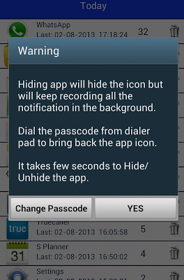 Notifications Tracker Free - screenshot