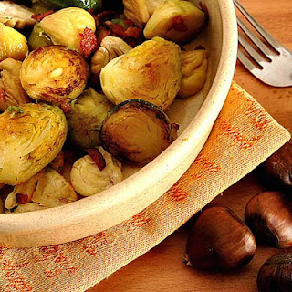 Sauteed Brussel Sprouts and Chestnuts.
