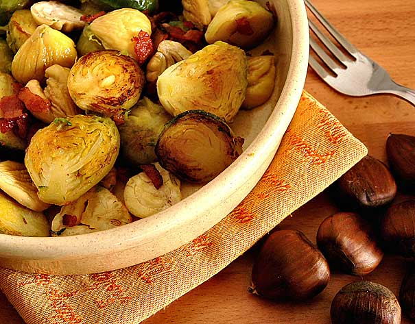 Sauteed Brussel Sprouts and Chestnuts Recipe