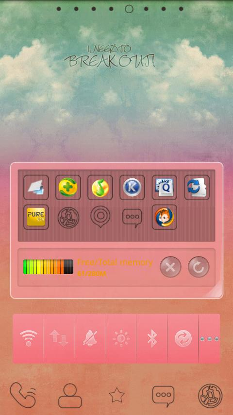 Pink Go widget - screenshot