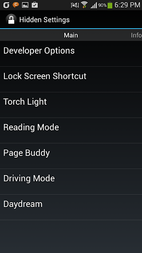 Galaxy Hidden Settings