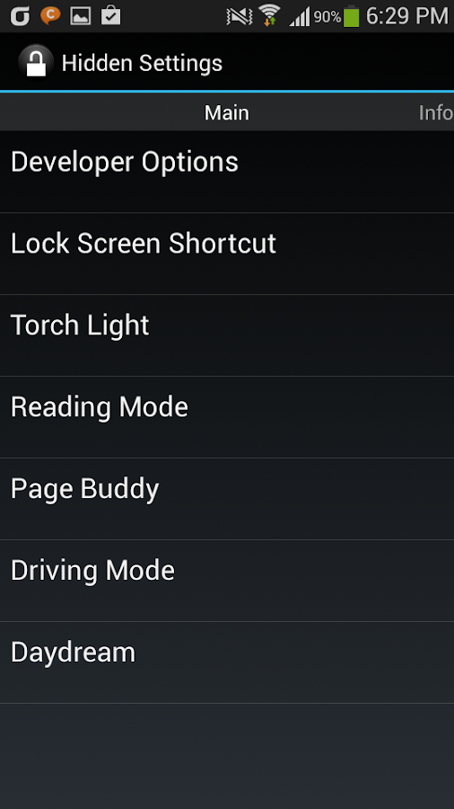 Galaxy Hidden Settings - Android Apps on Google Play