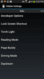 Galaxy Hidden Settings- screenshot thumbnail