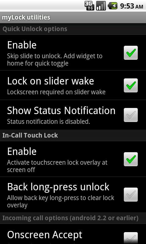 myLock utilities - screenshot