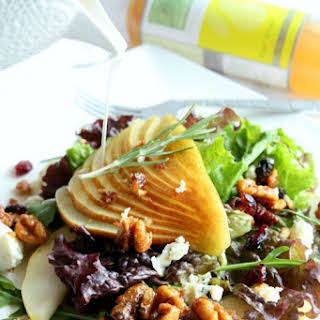 Holiday Pear Salad with Candied Nuts.