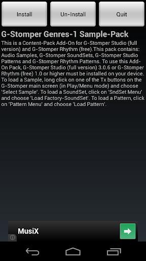 【免費音樂App】G-Stomper Genres-1 Sample-Pack-APP點子
