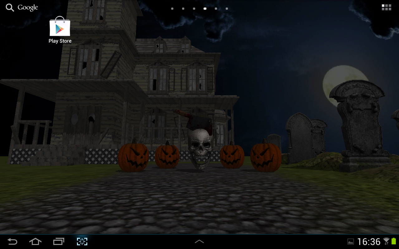 3d halloween live wallpaper fr android apps on google play