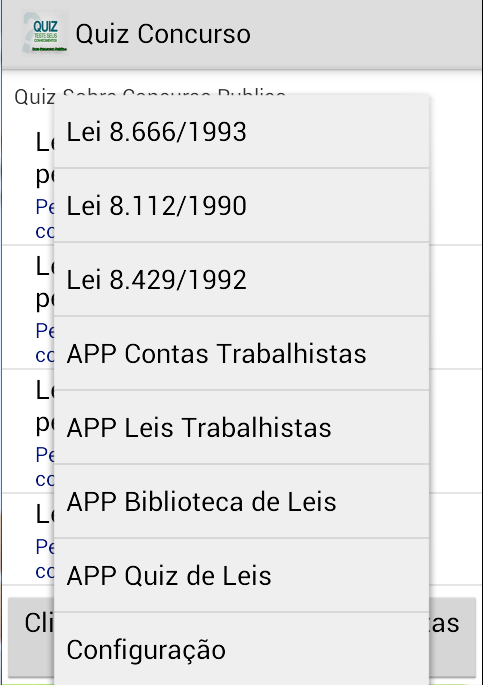 Quiz Concurso Publico- screenshot