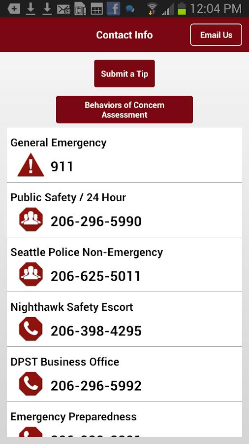 Seattle University SafeHawk - screenshot