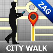 Zagreb Map and Walks