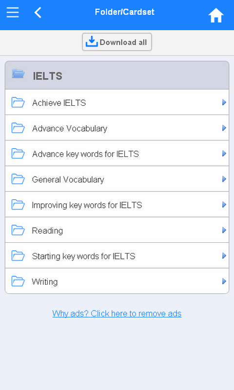 IELTS Flashcards- screenshot