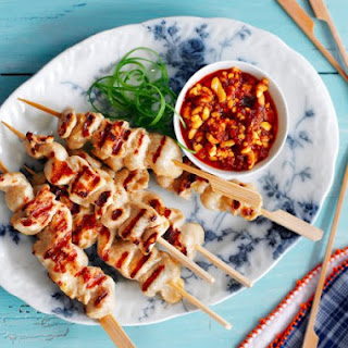 Hawker Stall Chicken Skewers.