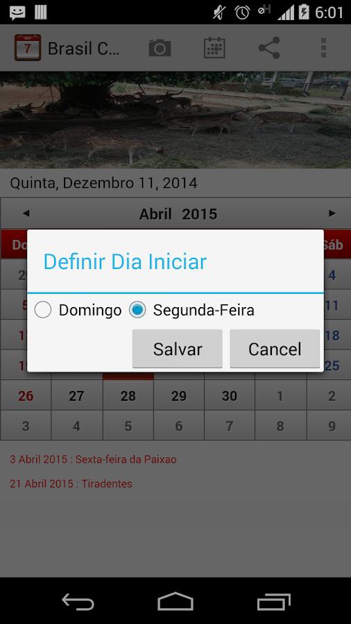 Brasil Calendário 2015 - screenshot