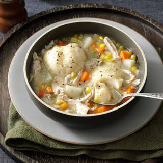Momma's Turkey Stew with Dumplings.