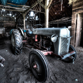 Ye Old Tractor by Nathaniel Beighley - Transportation Other ( farm, hdr, photomatix, barn, agriculture, nikkor, d600, ford, nikon, agricultural, tractor, photography,  )