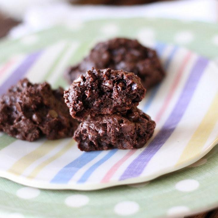 Double Chocolate Brownie Mini Chip Cookies Recipe