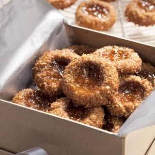 Fig 'n' Flax Thumbprint Cookies.