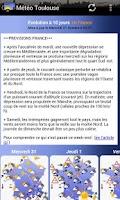 Screenshot of Météo Toulouse