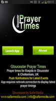 Screenshot of Gloucester Prayer Time