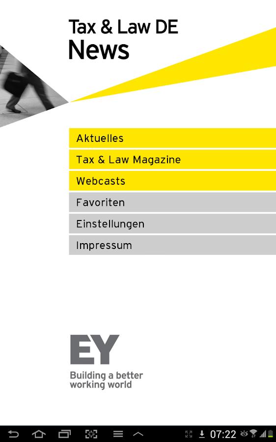 EY Tax & Law DE News - screenshot