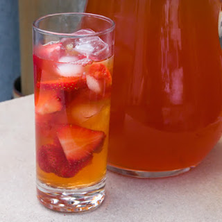 Strawberry-Rhubarb Iced Tea.