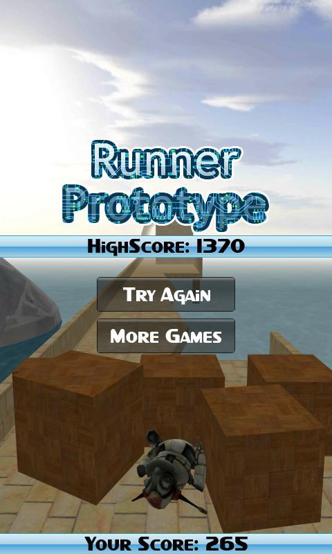 Runner Prototype- screenshot