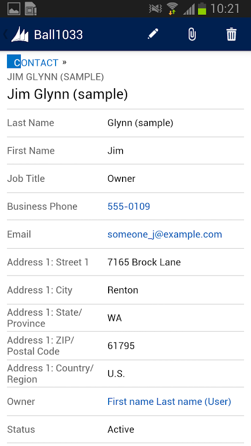 Dynamics CRM for phone express- screenshot